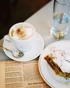 Enjoy a delicious cappuccino and pastry while reading the morning paper at Cafe Landtmann in Vienna.