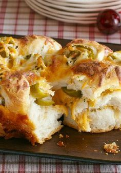 Mexican Monkey Bread – That can of refrigerated biscuits is hoping you'll use it to make this Mexican Monkey Bread—layered with butter, jalapeño peppers and two kinds of cheese.
