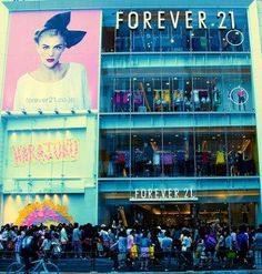 Forever 21 in NYC - amazing store. Great prices, plus sizes available.