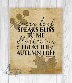 fall decor typography word art autumn art fall leaf by SpoonLily