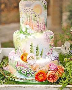 23 Stunning Spring Wedding Cakes to Inspire: #20. SPRING FLORAL CAKE IDEA; #springwedding; #weddingcake
