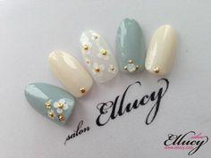 [예쁜네일아트]마크제이콥스 꽃무늬 봄네일아트 압구정 네일샵 엘루씨네일살롱 - 네일아트 - 엘루씨