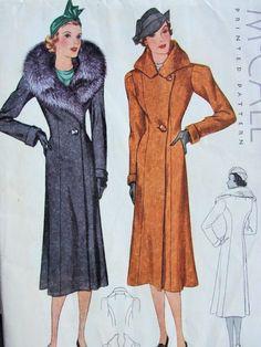 1930s coat pattern from www.sovintagepatterns.com