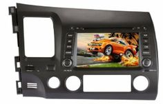 """7"""" Car DVD Player with GPS for HONDA CIVIC 2006-2011 by NewerStone. $370.00. Navigation System for Honda Civic 7"""" for 2006-2011 *Screen: Type: 7 Inch Digital Touch Screen Resolution: 800*480(WVGA) Image Brightness/ Contrast/ Color adjustable Auto-memory Function Car Brand Logo Changeable Auto Dimmer Function: Can dim automatically once the car light turn on, can't dim manually on the UI Installation type: ISO 2 DIN Size Power Supply: DC12V Max Working Current: 10A *DVD: Compatibl..."""