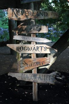 """instead of using """"reception"""", """"ceremony"""", etc you have way finding based on HP locations? Then give guests a cute illustrated map so they know what is what?"""