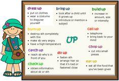 Фразовые глаголы с предлогом up