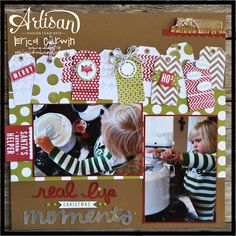 Great inspiration for Christmas scrapbooking.