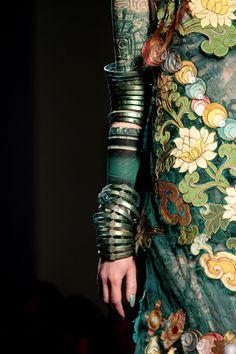 Never enough bracelets—Jean Paul Gaultier Spring 2010 Couture