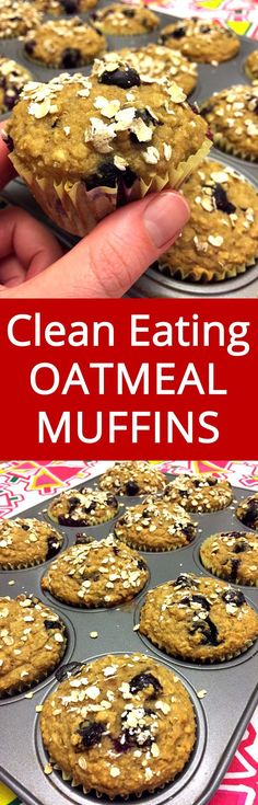 My favorite healthy muffin! These gluten-free blueberry oatmeal muffins are my perfect breakfast!