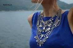 Aphrodite -Swarovski rhinestones statement necklace - made to order