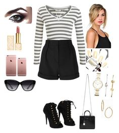 """Untitled #294"" by tiffany-london-1 ❤ liked on Polyvore featuring Miss Selfridge, IRO, Giuseppe Zanotti, Tory Burch, Yves Saint Laurent, Elizabeth and James, FOSSIL, Bony Levy and Michael Kors"