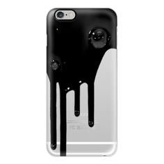 iPhone 6 Plus/6/5/5s/5c Case - BLACK DRIP (£26) ❤ liked on Polyvore featuring accessories, tech accessories, phone cases, phone, fillers, technology, iphone case, iphone cover case, black iphone case and apple iphone cases