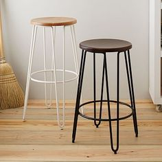 Hairpin Bar + Counter Stool #westelm  ok comfort for this kind of stool
