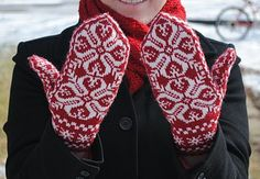 Knit Norwegian Mittens - If I ever get good enough at knitting!