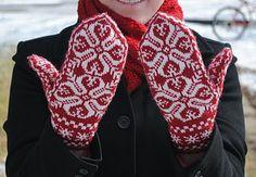 Knit Norwegian Mittens
