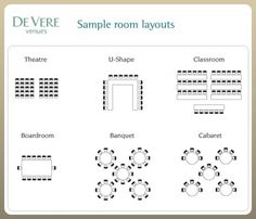 Sample Reception Room Layouts--- Maybe Cabaret seating for reception and ceremony in the same area?
