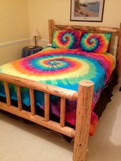 Tie dye King/Cal King Duvet Cover set by DoYouDreamOutLoud on Etsy, $135.00