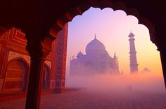 I don't I've ever seen a more beautiful picture of the Taj Mahal.  #travel