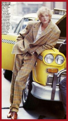 """New York News"" Tatjana Patitz by Peter Lindbergh /Grace Coddington - US Vogue September 1989 Fashion 90s, Moda Fashion, Fashion History, Trendy Fashion, Fashion Trends, Fashion Women, Fashion Ideas, Style Fashion, Look 80s"