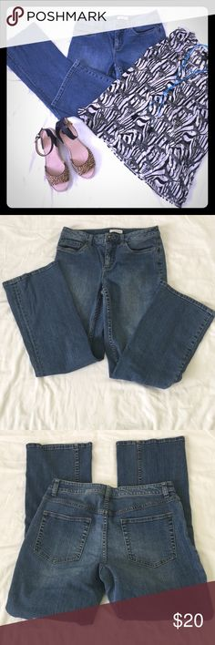 Boot cut cotton jeans w/2% spandex for a great fit These are petite size jeans in excellent condition Coldwater Creek Jeans Boot Cut