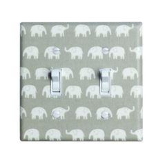 elephant light switch plates | Gray Elephant Nursery Light Switch Plate Cover / Baby Girl / Nursery ...