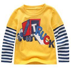 36c94d178 Dan Ching Kids Little Boys Long Sleeve T-shirts Little Boys