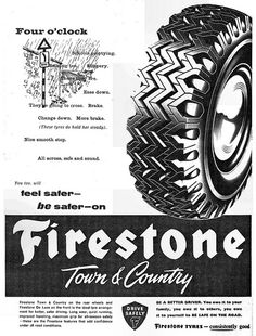 Firestone Town & Country Ad 1960