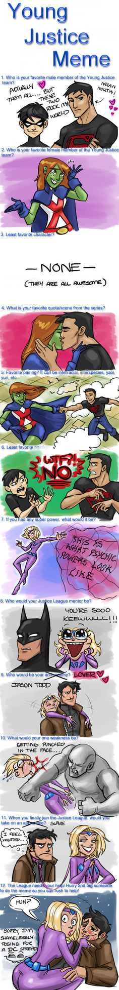 Young Justice Meme by *WendyDoodles on deviantART