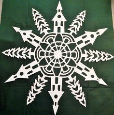 how to fold the paper - How to make a snowflake | Tim Latimer - Quilts etc