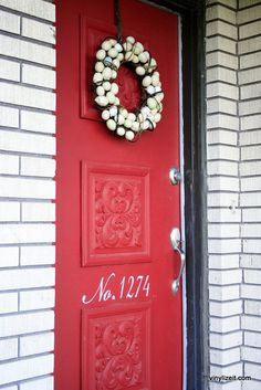 House Numbers for Front Door-Choose a font-Custom Vinyl Decal. $12.00, via Etsy.