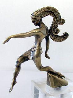1920 Varnier Mascotte Automobile Car Mascot Hood Ornament Art Deco Bronze | eBay
