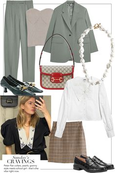 Sunday's Cravings: Granny Style meets School Girl Fashion Capsule, Fashion Outfits, Womens Fashion, Petite Fashion, Polyvore Outfits, Cos Dresses, Sheath Dresses, Mode Collage, Mode Dope