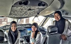 Royal Brunei Airlines' first all-female pilot crew lands in Saudi Arabia, where women are forbidden from driving - Telegraph