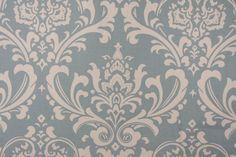 Premier Prints Ozbourne Printed Cotton Drapery Fabric in Village Blue/Natural…