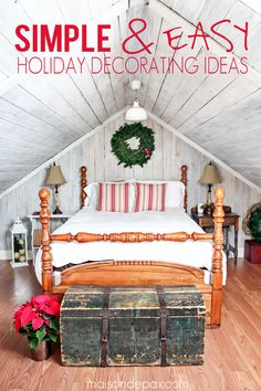 Simple Christmas decor - 10 minutes to make your guest room perfectly festive for the holidays | maisondepax.com