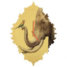 Eric Fan Elephant And Bird Baroque Clock | DENY Designs Home Accessories
