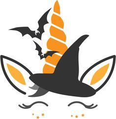 Halloween Unicorn - Iron-on decal (HTV) by RockyMtnVinylDecals on Etsy Halloween Vinyl, Halloween Rocks, Unicorn Halloween, Halloween Painting, Halloween Home Decor, Halloween Shirt, Fall Halloween, Halloween Crafts, Silhouette Vinyl