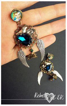 royal earrings long chandelier statement earrings by RebelSoulEK