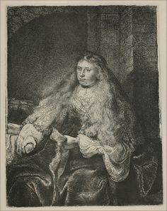 REMBRANDT van Rijn, Dutch (1606–1669)_Study of Saskia; called the 'Great Jewish Bride' 1635