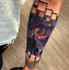 3D tattoo on arm space