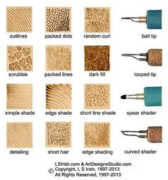 pyrography stroke guide http://www.lsirish.com/tutorials/pyrography-tutorials/fundamentals-and-techniques-pyrography/basic-woodburning-strokes-and-textures/
