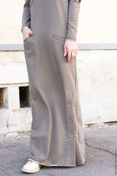 Soft Cotton Dress Long Dress Daywear Dress Casual Dress Etsy is part of Hijab fashion - Islamic Fashion, Muslim Fashion, Modest Fashion, Fashion Dresses, Trendy Fashion, Casual Hijab Outfit, Hijab Chic, Casual Dresses, Elegante Y Chic
