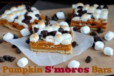 pumpkin smores bars labelled