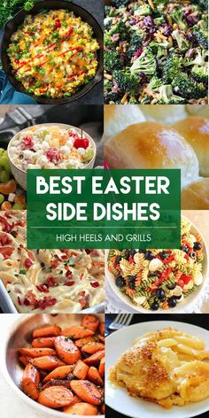 These are seriously some of the Best Easter Side Dishes ideas I have found! #easter #side #sidedish #recipe #food #holiday #rolls #potatoes #vegetables #salad  via @heelsngrills