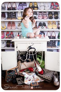 3 years toddler makeup shoe backdrop purses jewelery cupboard