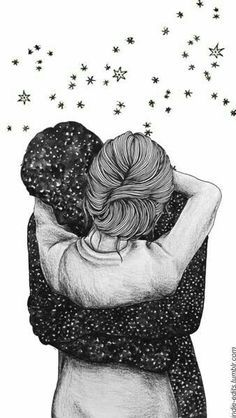 Image discovered by Zoridiel López Díaz. Find images and videos about love, art and couple on We Heart It - the app to get lost in what you love. Love Wallpaper, Wallpaper Backgrounds, Iphone Wallpaper, Drawing Sketches, Art Drawings, Couple Drawings, Art Graphique, Couple Art, Cute Love