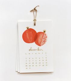 Fruit calendar with sweet illustrations.