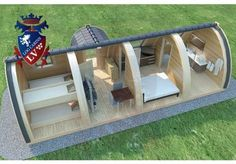 Glamping Pods with Bathroom