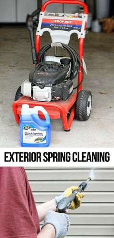 How often do you Spring Clean the exterior of your home? Talking about power washing and what we use!