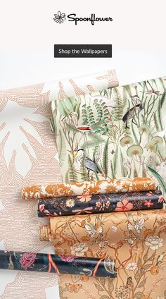 When thinking about your home style, bring the outdoors in! With flora and fauna designs handpicked by Artist Community Manager @taranormal, you can evoke a warm, natural setting inside with ease (and less yard care). 🌿🌷🍁  #patterndesign #textildesign #pattern #digitalprinting #homedecor #floral #fauna #wallpaper Yard Care, Community Manager, Flora And Fauna, Floral Designs, Watercolor Flowers, Spoonflower, Diy Wedding, Digital Prints, Pattern Design